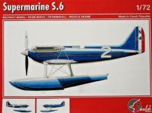 Pavla 72066 Model Resin Kit 1/72 Supermarine S.6 + transport carriage